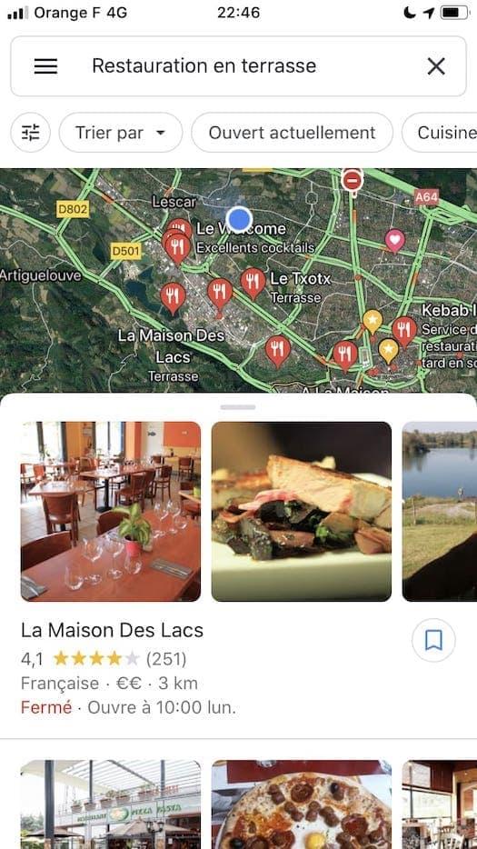 Recherche-locale-restauration-en-terrasse-Google-Maps